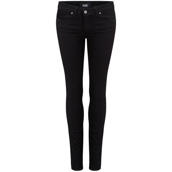 Black plain Paige jeans