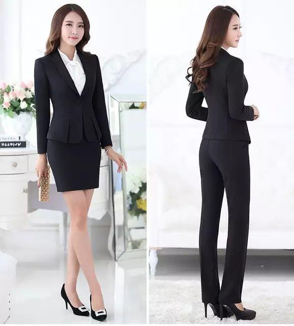 1afb63c83d4 Trajes pantalón formales para mujeres trajes de negocios para conjuntos de  ropa de trabajo chaqueta gris para mujer oficina estilos uniformes trajes  de ...
