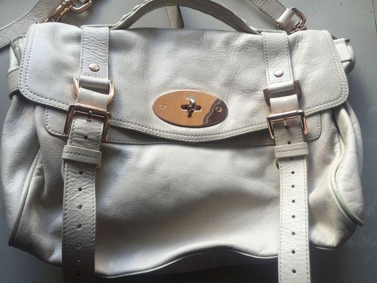 409946d90575 ... get mulberry alexa leather satchel bag off white purse handbag vintage  handbag 53d5a 3b384