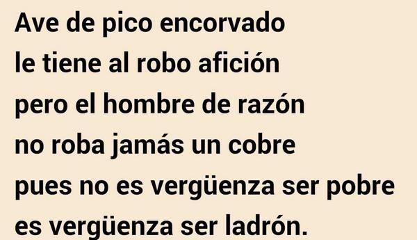 Fragmento:La vuelta de Martín Fierro, cap. 32 /José Hernádez