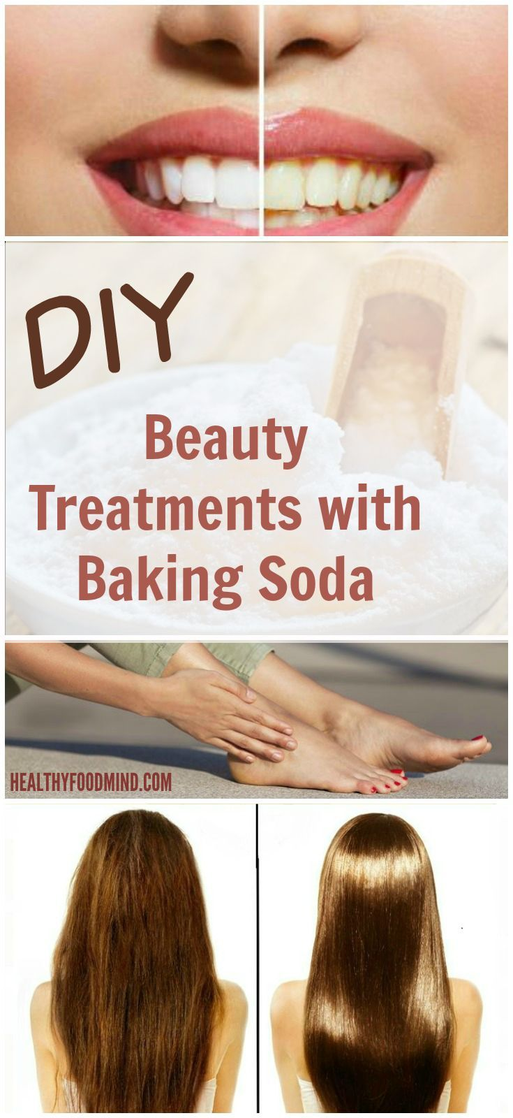 Completely natural and effective health and beauty tips with baking soda! A true multitasking wonder for a ton of DIY beauty and health needs...