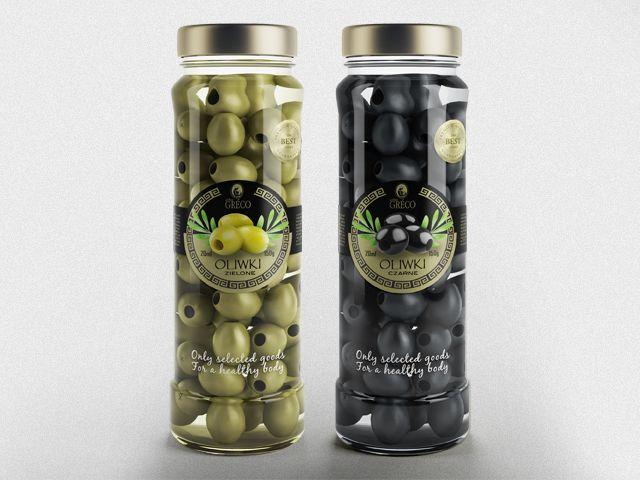 Etykiety na słoiczki z oliwkami
