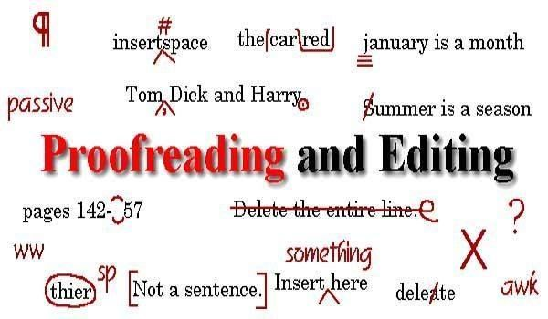 Online proofreading and editing marks