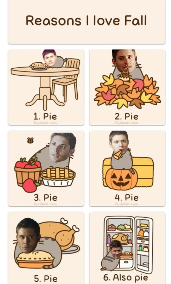 Dean and his pie