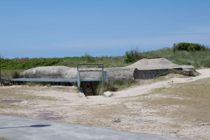A preserved enemy bunker at Juno Beach, site of Canadian landing
