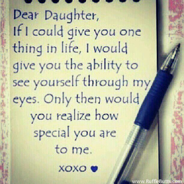 ... mother wants her daughter to see herself in her mothers eyes but she