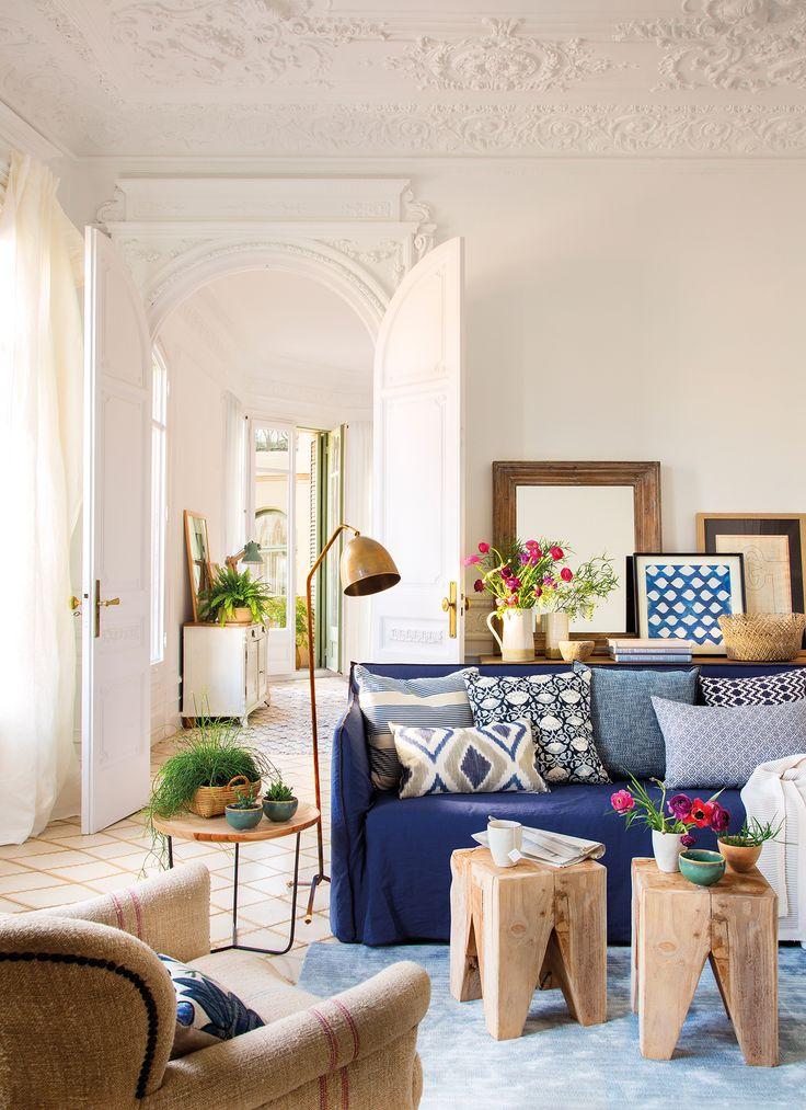 M s de 20 ideas incre bles sobre sof s azules en pinterest - Combinar sofa azul oscuro ...
