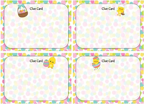 Free Easter Printables – Scavenger Hunt   – Easter