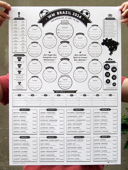 WM-Spielplan 2014 free printable