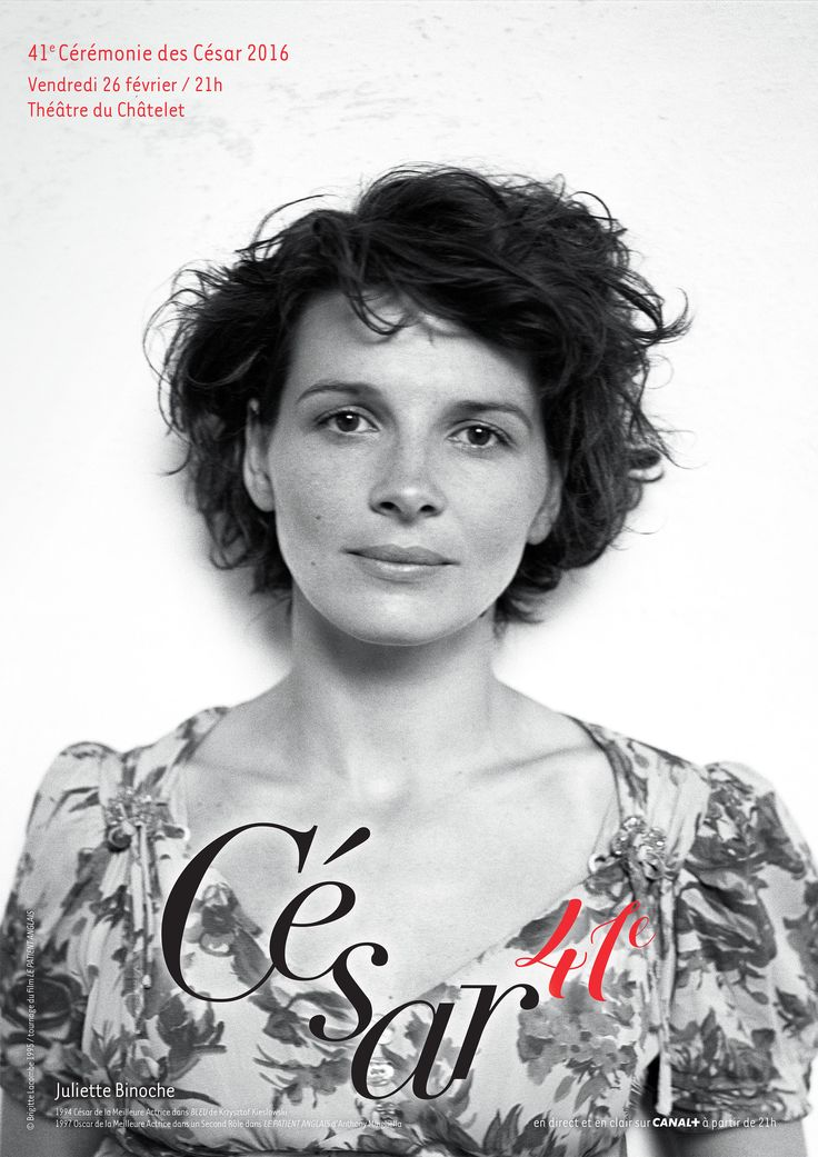 A lire sur AlloCiné : Découvrez l'affiche officielle de la 41e cérémonie des César, qui rend hommage à Juliette Binoche.