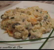 Recette - Risotto au saumon fumé et champignons - Proposée par 750 grammes