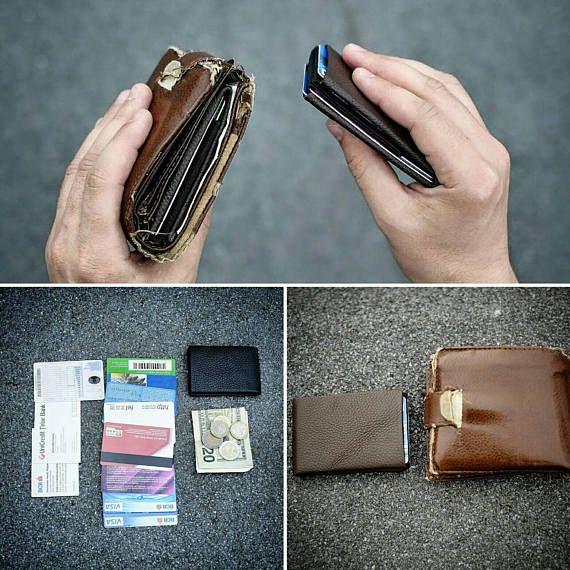 Best Minimalist Wallet, Leather Wallet, RFID Wallet, Mens Wallets, Groomsmen Gifts, Leather Wallets #021