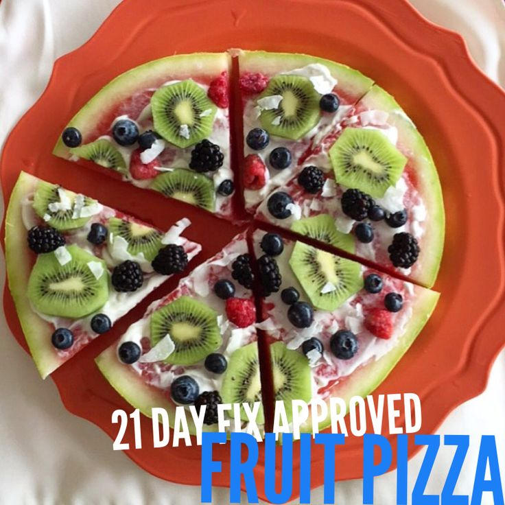21 Day Fix approved Watermelon Fruit Pizza Recipe (1 Purple, 1/2 Red)  // 21 Day Fix // fitness // fitspo // workout // motivation // exercise // Meal Prep // diet // nutrition // Inspiration // fitfood // fitfam // clean eating // recipe // recipes