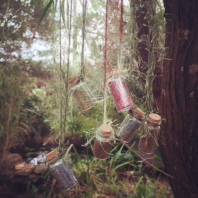 Party gifts, fairy dust from Wildwood's faerie realm. www.willywagtails.com