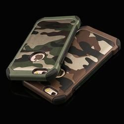 2 in 1 Army Camouflage Phone Cases For iphone 4 4s 5 5s SE 6 6s 7 Plus Armor Case Fashion Hybrid Hard PC + Soft TPU Cover Funda