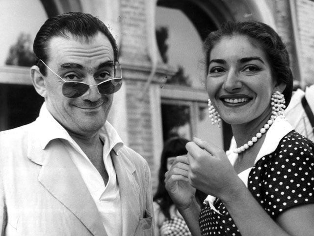 Luchino Visconti con la sua grande amica Maria Callas. Olycom 22/24