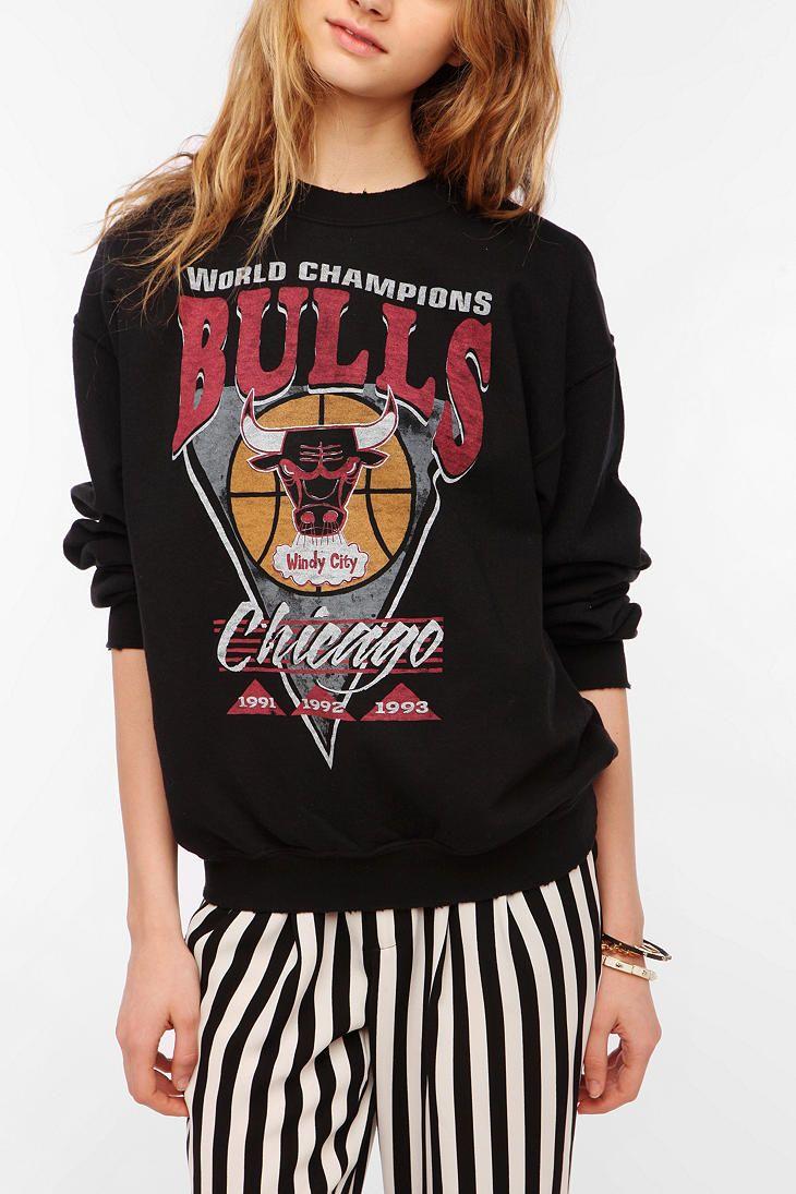 Junk Food Chicago Bulls Basketball Sweatshirt  Back in Stock
