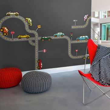 Roads - contemporary - Kids Decor - Simple Shapes