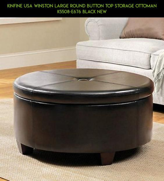 Kinfine USA Winston Large Round Button Top Storage Ottoman K5508-E676 Black  New #products - 25+ Best Ideas About Large Round Ottoman On Pinterest Rug