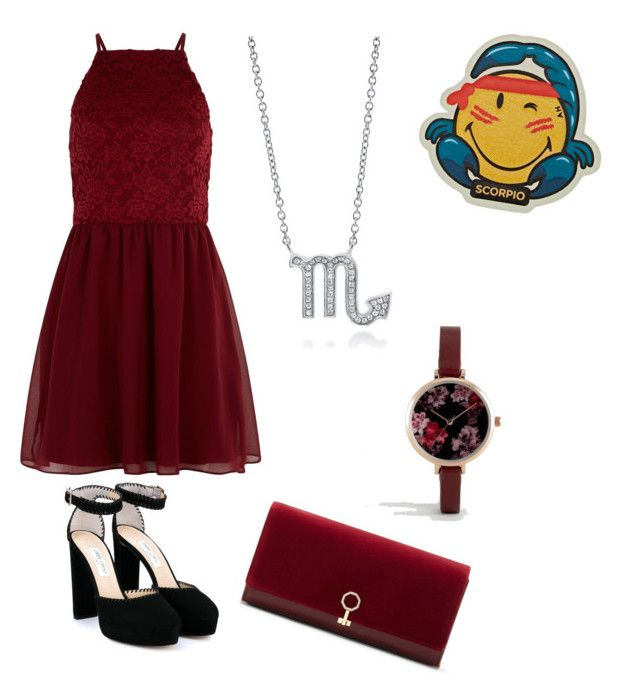 """""""Scorpio 🦂"""" by puplove905 ❤ liked on Polyvore featuring BERRICLE, New Look, Jimmy Choo, Anya Hindmarch, Louise et Cie and ASOS"""