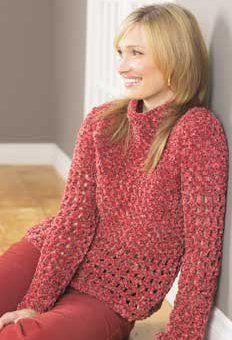 Bohemian Pullover   AllFreeCrochet.com