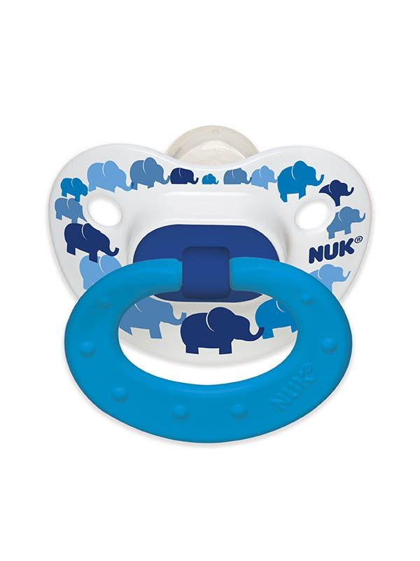 Elephants & Butterflies Orthodontic Pacifiers- Size 6-18m | NUK #MadeintheUSA