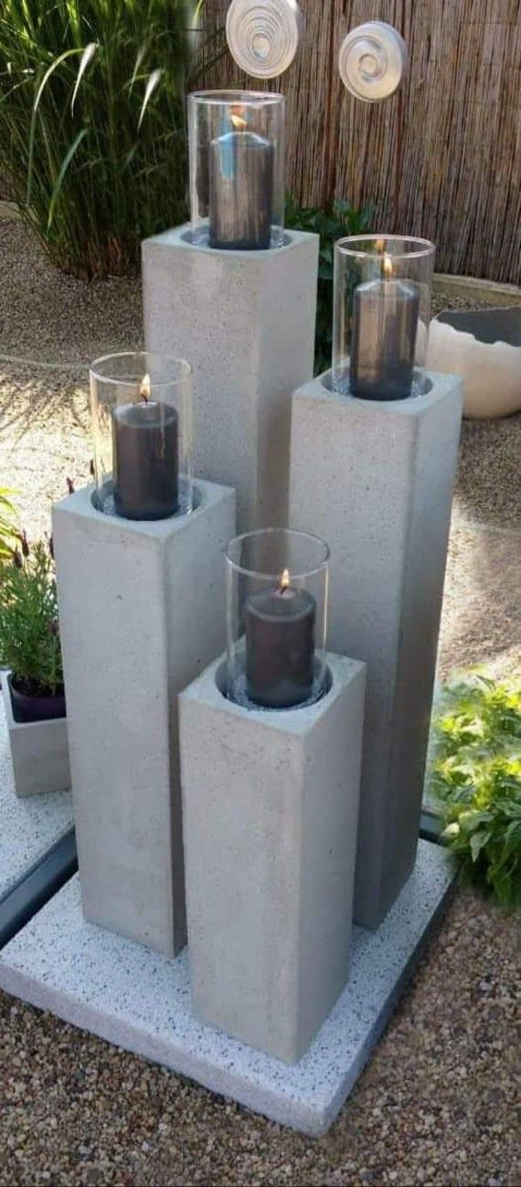 Styrodur Concrete Casting Mould Large Columns With Inlay Etsy In 2020 Concrete Casting Outdoor Furniture Sets Garden Art Projects