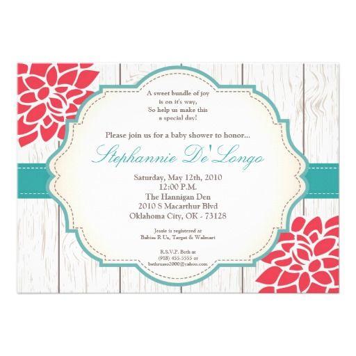 54 best baby shower invites: floral images on pinterest | baby, Baby shower invitations