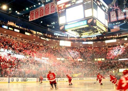 Joe Louis Arena, Detroit, Red Wings Hockey