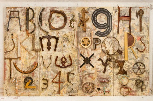 Tipografía con basura