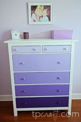 Purple Ombre Dresser... princess sophia bedroom for princess Peyton. I love this but in a teal or turquoise