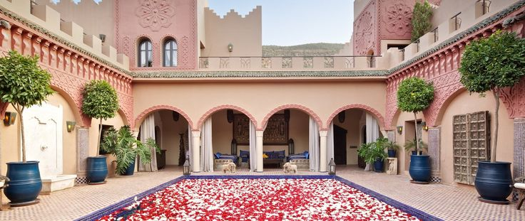 Luxury Holiday Ideas Morocco Kasbah Tamadot Courtyard