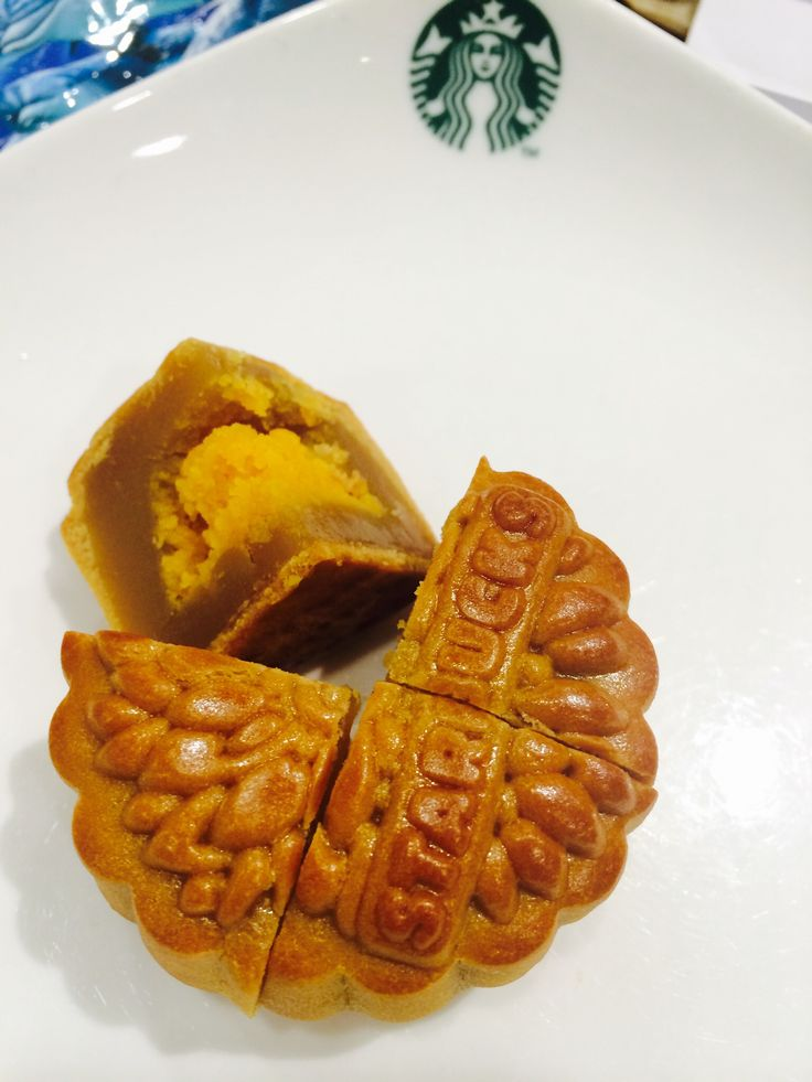 Starbucks mooncake... Not so sweet!! Especially I like the box!!