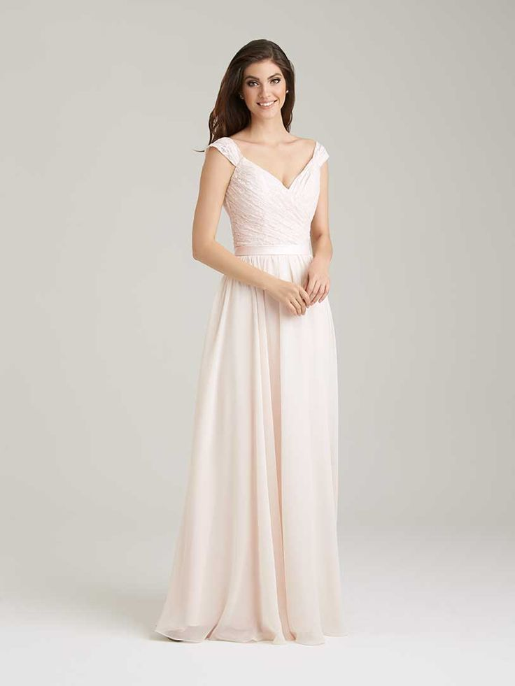 Style: 1463 - The ruched lace bodice on this A-line dress is ultra-flattering.