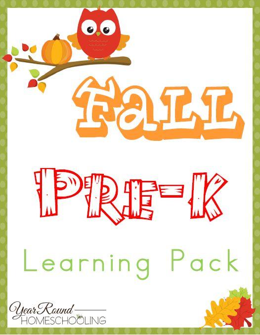 Free Fall PreK Learning Pack…