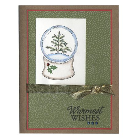 Warmest Wishes snow globeChristmas Cards, Cards Ideas, Cards Scrapbook, Holiday Cards, Xmas Cards