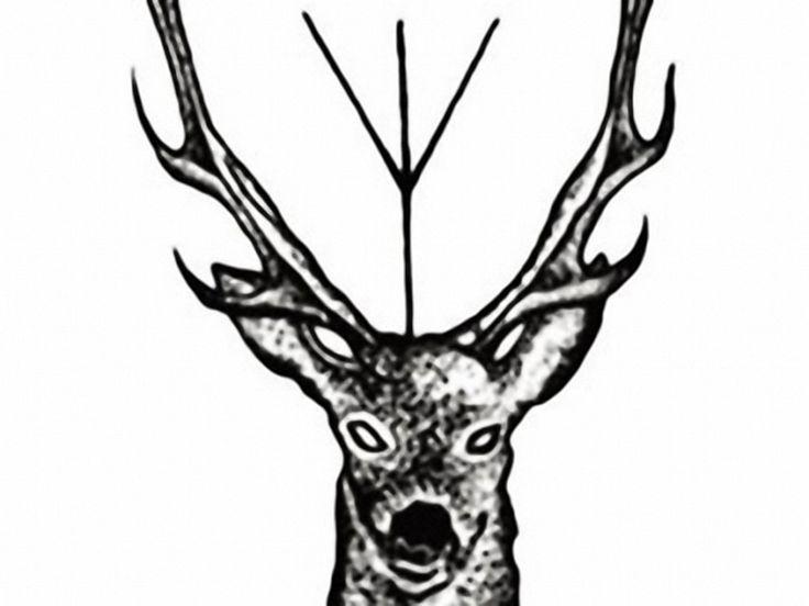 Weiteres - geometrischer Hirsch Temporary Tattoo Boho Hippie - ein Designerstück von Kleines-Karma bei DaWanda