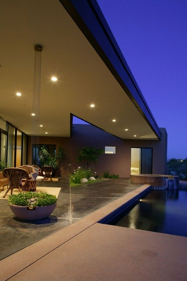High definition modern oasis riverfront residence in for Modern house definition