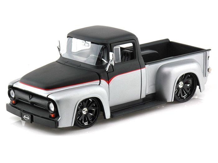 Ford F  Pickup Just Trucks   Black Silver Cast Scale Models Trucks Cars Ford