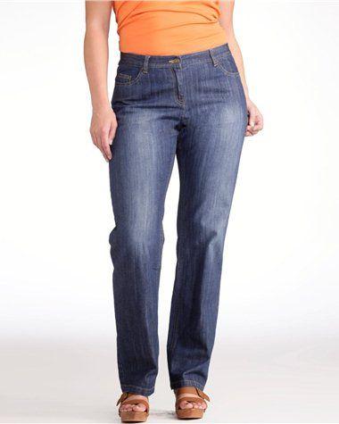 """Jean droit stretch """"silhouette élancée"""" entrej. 78 cm http://www.castaluna.fr/categories/jeans/139.aspx#FriendlySize*52 Page*2 """