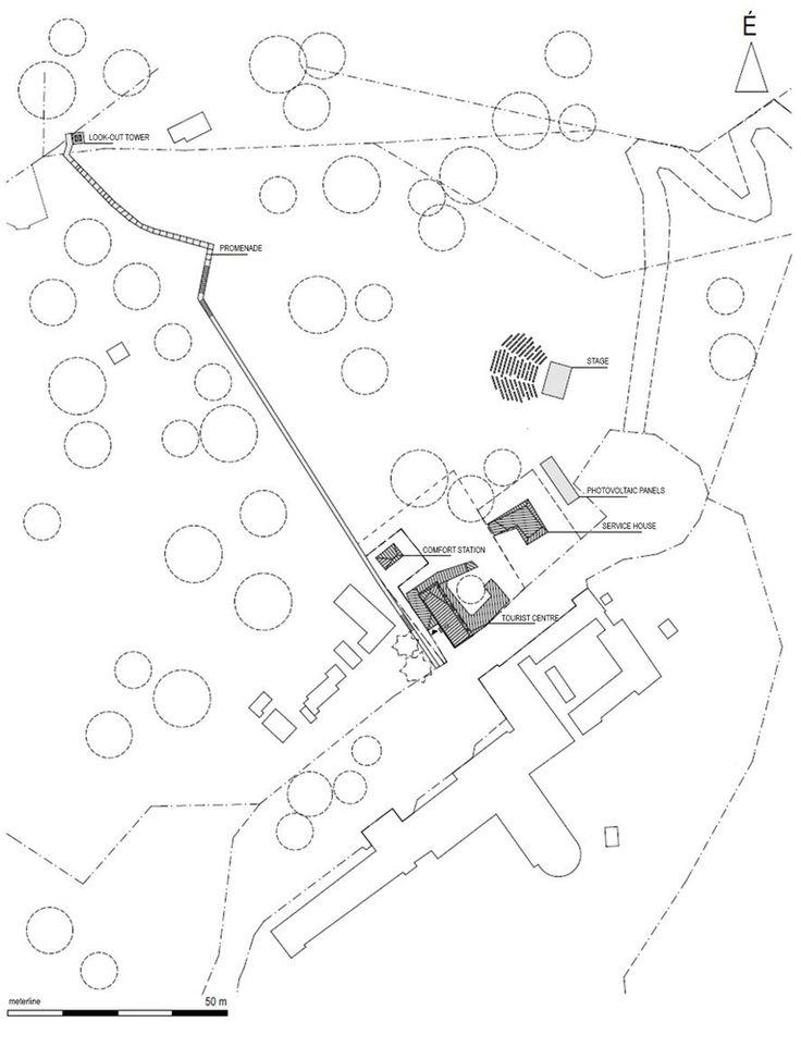 Mountain Hut at Galyateto,Site Plan