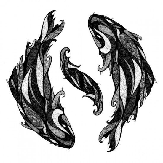 les 25 meilleures id es concernant tatouages de poissons de zodiaque sur pinterest tatouages. Black Bedroom Furniture Sets. Home Design Ideas