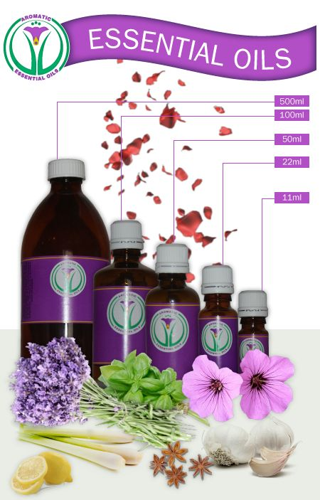 """Essential Oils - order your essential oils from """"Aromatic Essential Oils"""" in Johannesburg South Africa. See the website for contact details."""
