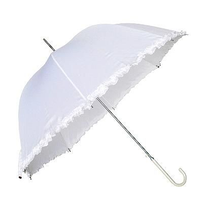 This gorgeous, feminine white Parasol umbrella is the perfect accessory for protection against the sun and rain!