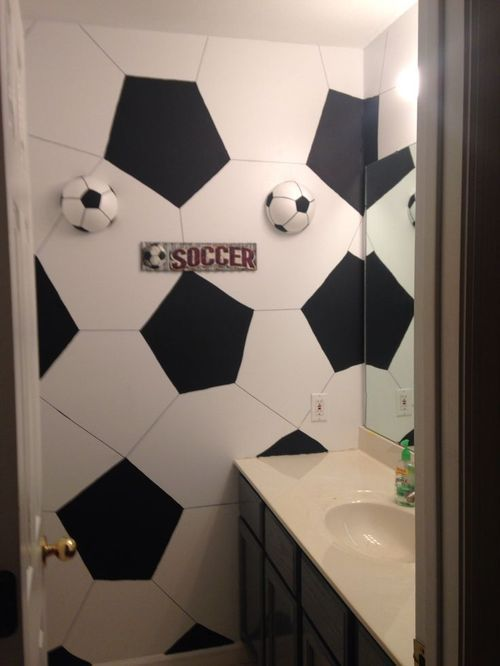 Football Soccer Bathroom Original Home Decor