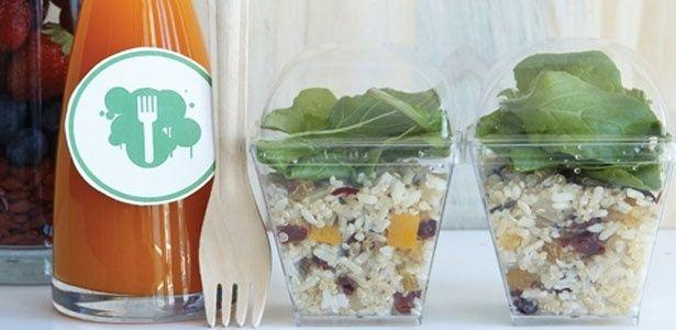 Jewelled quinoa and rice salad