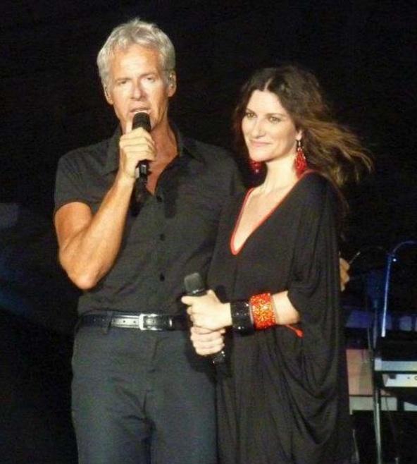 Laura Pausini with Claudio Baglioni