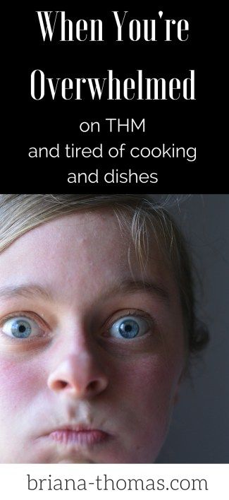 When You're Overwhelmed on THM...and tired of cooking and doing dishes...
