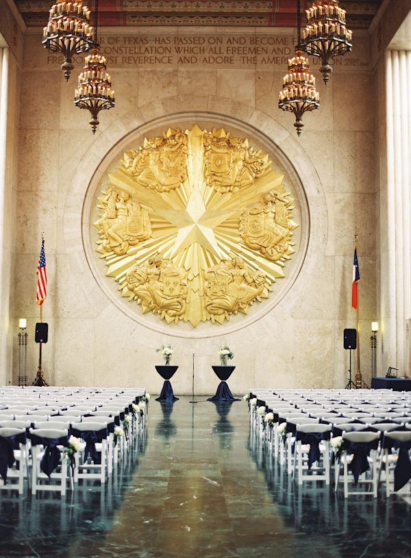 outdoor wedding venues dfw texas%0A Fashionable Wedding at the Texas Hall of State  Southern Weddings Magazine