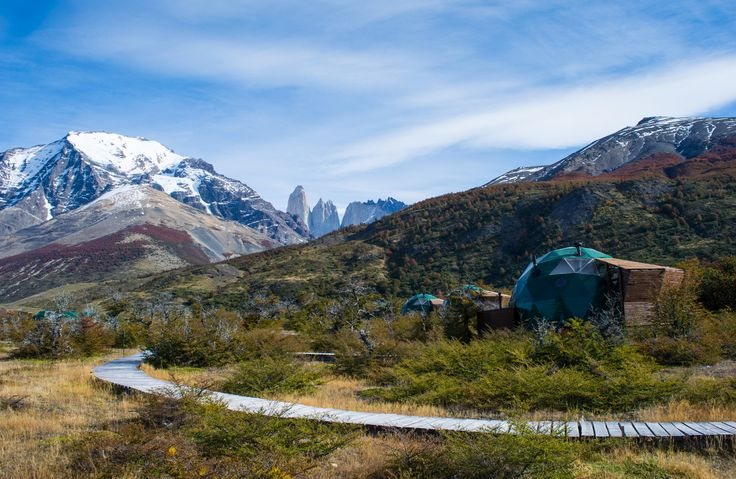Suite domes in Torres del Paine NP, Chile #Patagonia